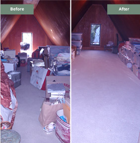 Basement Attic Before & After