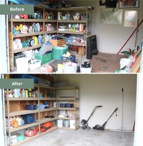 Garage Shed Before & After